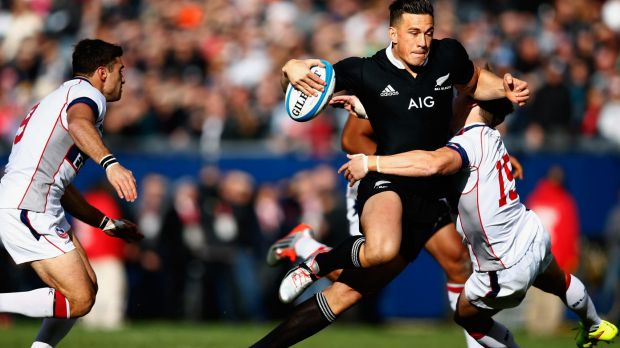 Strong return: Sonny Bill Williams excelled for the All Blacks against the USA.