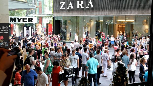 The influx of global brands like Zara has helped kick Pitt Street Mall rents back into the world's top five.