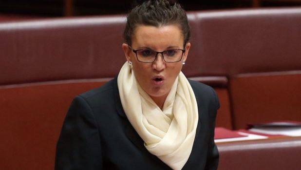 Outspoken PUP senator Jacqui Lambie has been demoted by her party.