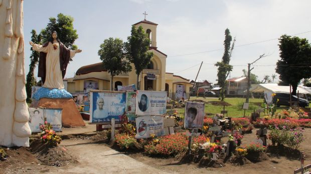The San Joaquin church near the town of Palo is a last resting place for many of Haiyan's victims.