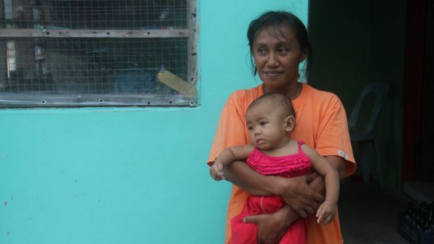 Baby Sofia Deximo, seen here with her grandmother Rosa, was born four days after Haiyan struck.
