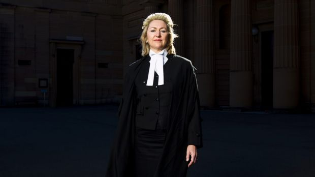 Winning case: Margaret Cunneen outside the Darlinghurst Courthouse in Sydney.