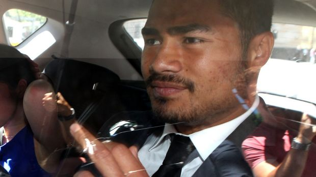 Kirisome Auva'a leaves the Melbourne Magistrates' Court last week.