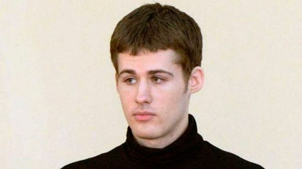 American Matthew Todd Miller pictured during his trial in the North Korean Supreme Court.