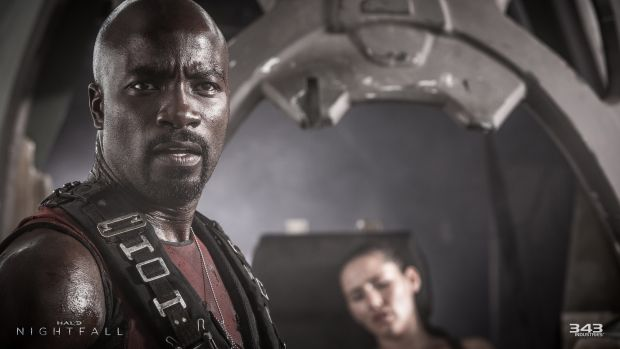 Mike Colter as Agent Locke in the series <i>Halo: Nightfall</i>, releasing on Xbox One as part of <i>Halo: The Master ...