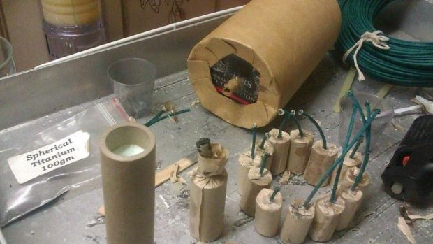 An image posted on the Facebook page of the accused bombmaker from Rochedale South.