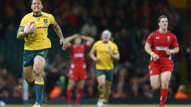 Catch me if you can: Israel Folau was too quick.