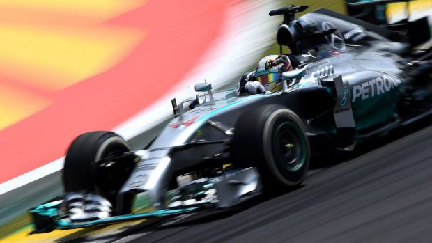 Down to the wire: Lewis Hamilton needs to finish second to claim the world title.