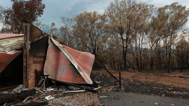 """Destroyed: The Warrumbungle National Park after """"Black Sunday"""" in 2013."""