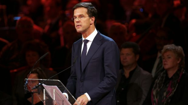 """""""We didn't know each other but we are partners in misfortune and we stare out the window"""": Netherlands PM Mark Rutte."""