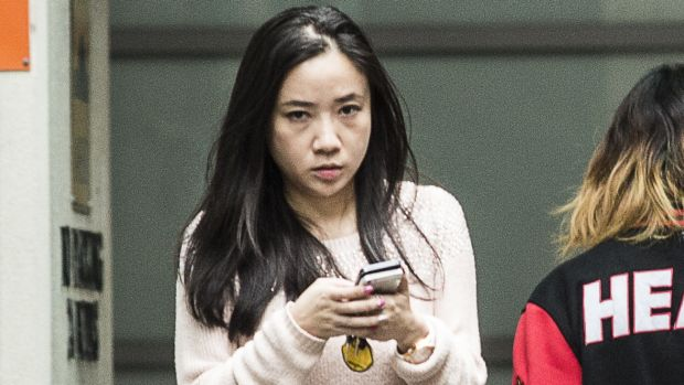 Yingying Dou, director of the MyMaster website, leaves work in Sydney.