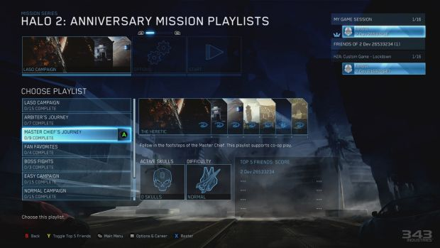 Flexible: Mission playlists let you play just the bits you want from the games' campaigns, either within a single game ...