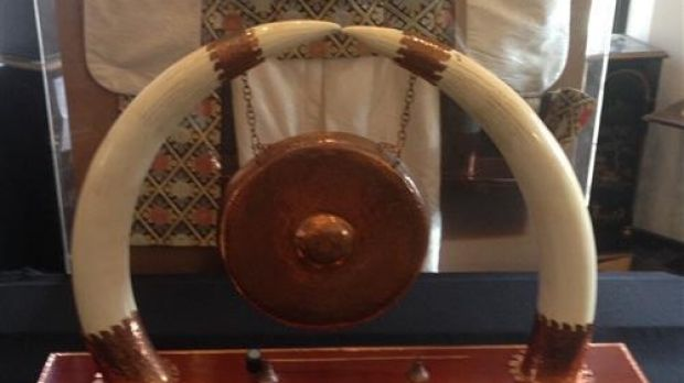 Withdrawn: a pair of African Elephant Tusks were estimated to fetch up to $16,000.
