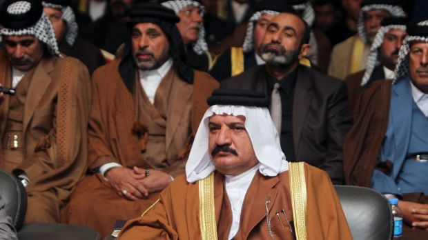 Political will: Shiite and Sunni tribal leaders and clerics at a meeting in Baghdad last week. The Iraqis have dragged ...