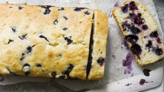 Seeing purple: Sweet potato and blueberry cake