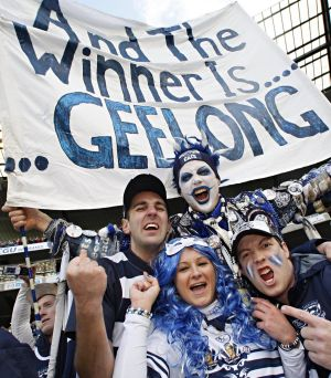 Geelong fan Troy West