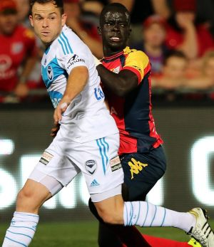 Going Dutch: Adelaide United's Awer Mabil.