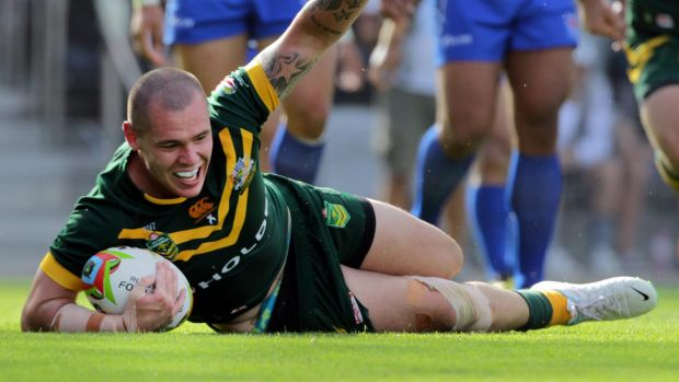 Forward thinking: David Klemmer is prepared for the physical challenge from the Kiwi pack.