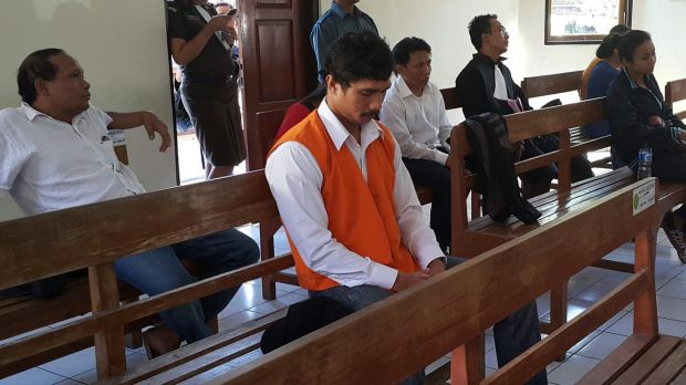 Ben Panangian in court on Tuesday.