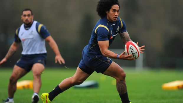 Hungry for tries: Wallaby winger Joe Tomane.