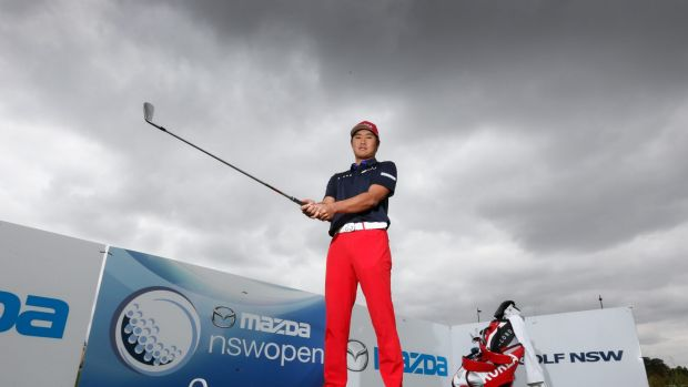 Aiming high: Gunn Yang will tee up in the NSW Open, starting on Thursday.