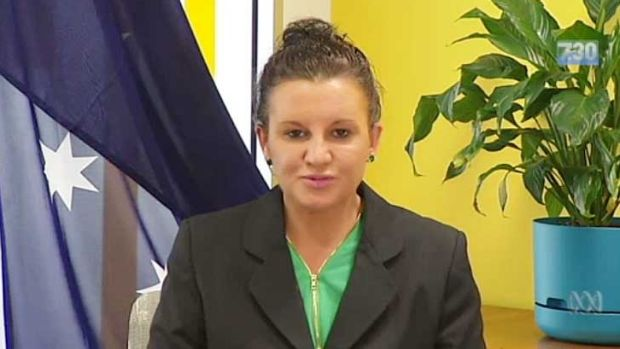 Jacqui Lambie on the ABC's <i>7.30</i>.