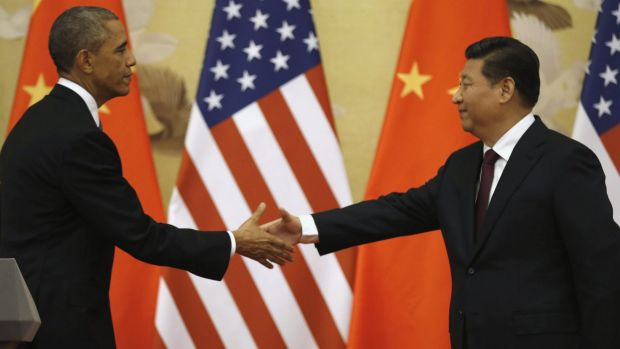 The new power generation: US President Barack Obama and Chinese President Xi Jinping at the end of their news conference ...