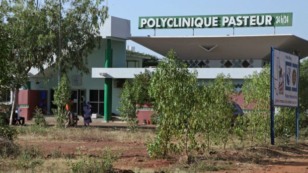 The clinic where a nurse died from Ebola in Mali capital Bamako.
