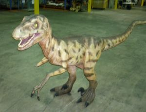 Damaged: The dinosaur stolen from the museum and Dinosaur vandalised.