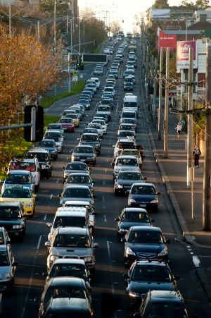 Traffic chokes Punt Road and developers are wary of road widening.