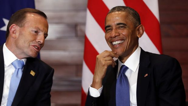 Prime Minister Tony Abbott  meets US President Barack Obama in Beijing earlier this week. Mr Obama has managed to force ...