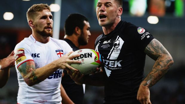 """""""I'm working with great guys around me in Kieran Foran and Simon Mannering"""": Shaun Kenny-Dowall."""