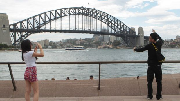 Almost 790,000 Chinese visitors travelled to Australia last year.