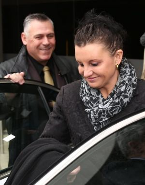 Senator Jacqui Lambie and her chief of staff Rob Messenger.