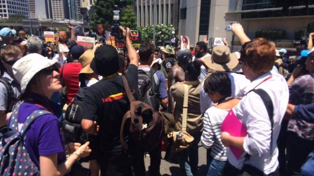Marchers protest against Aboriginal deaths in custody