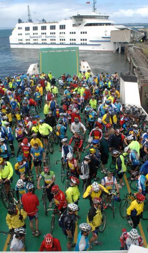 Way to go: Cyclists  ready for the Around the Bay.