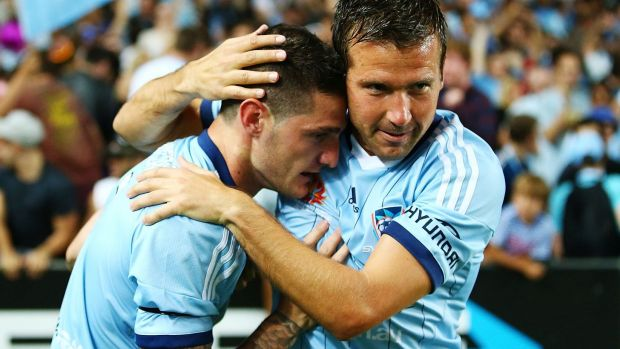 Use the space: Corey Gameiro and Milos Dimitrijevic will hope to take advantage of any space afforded to them in midfield.