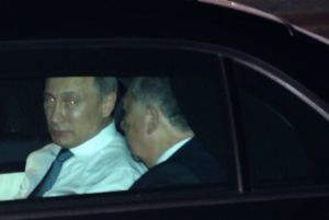 Off to the G20: Putin arrives in Brisbane.