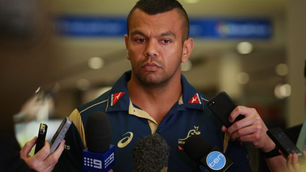Opportunity knocks: Kurtley Beale at Sydney Airport before flying out to join the Wallabies on their spring tour.