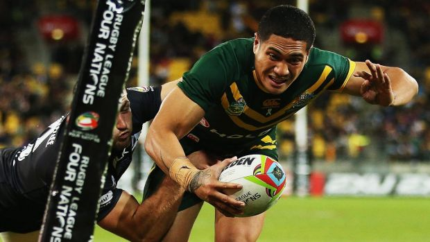 Youngest Kangaroo: Sione Mata'utia is likely to be fit for round one for the Newcastle Knights.