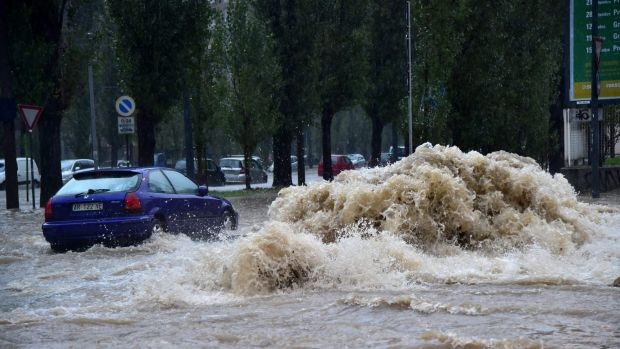 Heavy rain across France and Italy have caused widespread flooding, and claimed six lives in France.