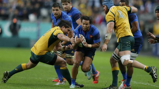 Vision impaired: No big screen replay of an incident involving Saia Fainga'a was available to referee Nigel Owens
