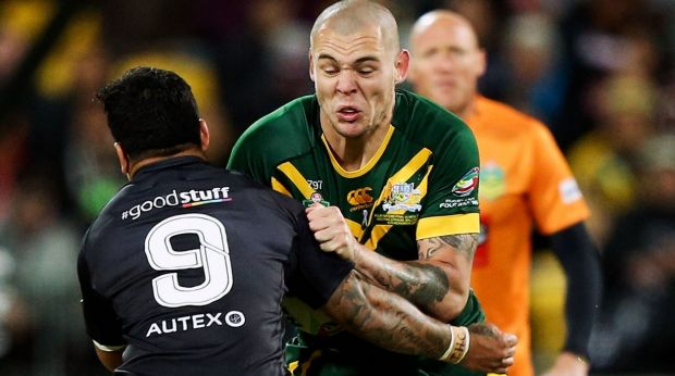 Young blood:  David Klemmer was one of Australia's better performers despite his callowness