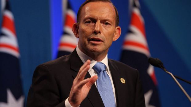 """""""Harmonious"""" discussions: Prime Minister Tony Abbott at the G20."""