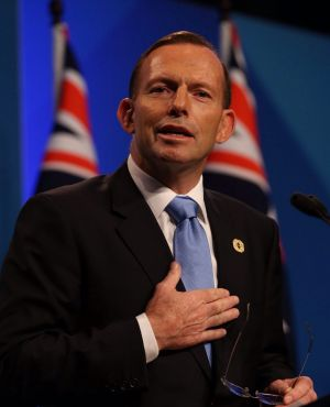 Tony Abbott at his G20 news conference in Brisbane. He is expected to sign the widely anticipated free trade deal with ...