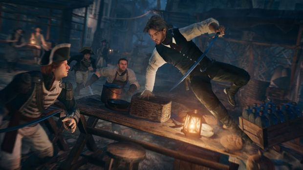 'Propaganda': The game portrays the French masses as bloodthirsty murderers, critic says.