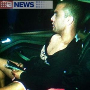 Daniel Kerr leaves jail after his arrest over the incident.