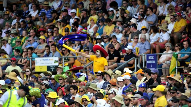 Voting with their feet: Big crowds at Manuka Oval for international cricket show the ground is ready to host a Test match.