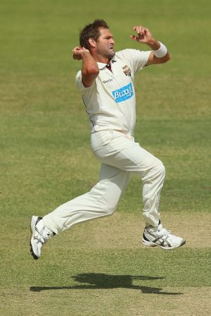 On the comeback trail: Bulls paceman Ryan Harris.