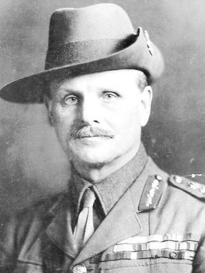 One of the architects of the plan, Lieutenant General William Birdwood.